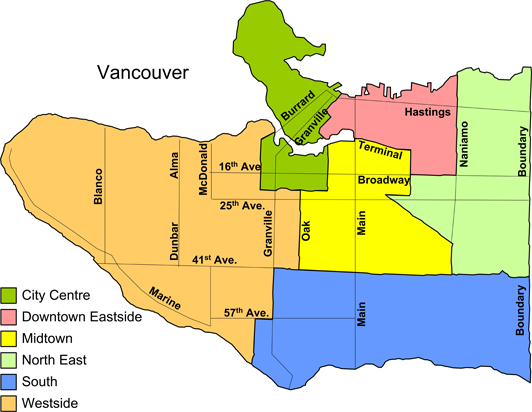 VCH - OASIS - Listing of Community Services Map - Vancouver